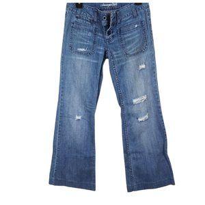 Vintage American Eagle Hipster Wide Crop Jeans